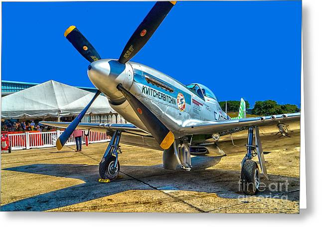 P51 Photographs Greeting Cards - P51 Mustang  Kwitcherbitchin Greeting Card by Nick Zelinsky