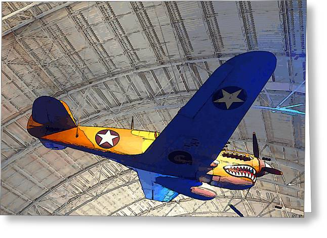 Enterprise Digital Art Greeting Cards - Curtiss P-40E Warhawk Greeting Card by Robert Pierce