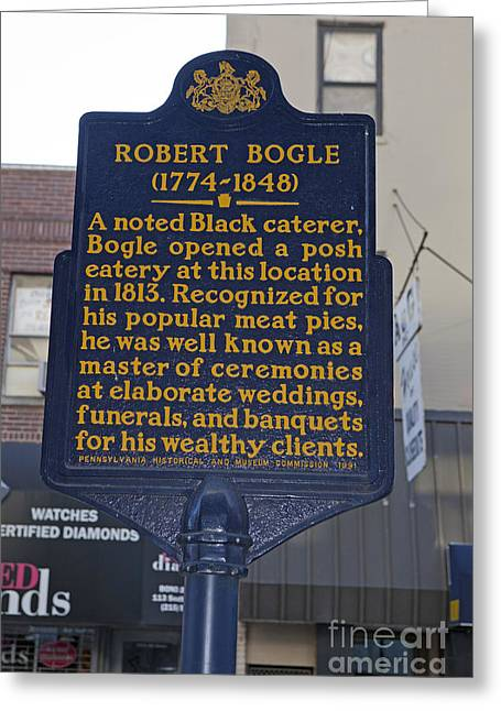 Philadelphia Tourist Site Greeting Cards - PA-131 Robert Bogle 1774-1848 Greeting Card by Jason O Watson