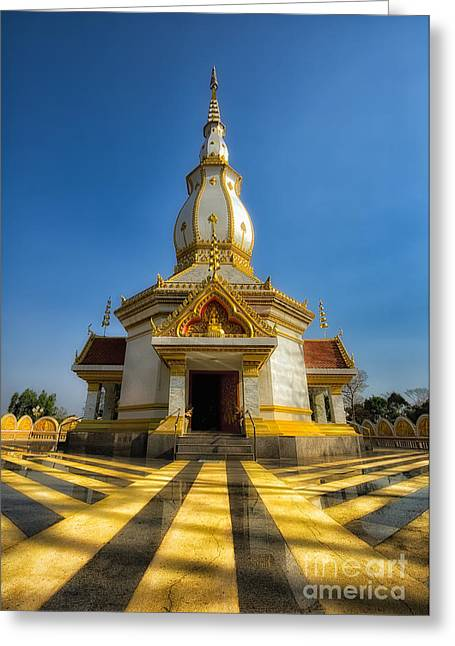 Pa Digital Art Greeting Cards - Pa Dong Wai Temple  Greeting Card by Adrian Evans