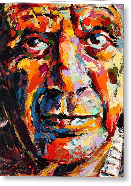 Pablo Picasso Paintings Greeting Cards - Pablo Picasso Greeting Card by Derek Russell