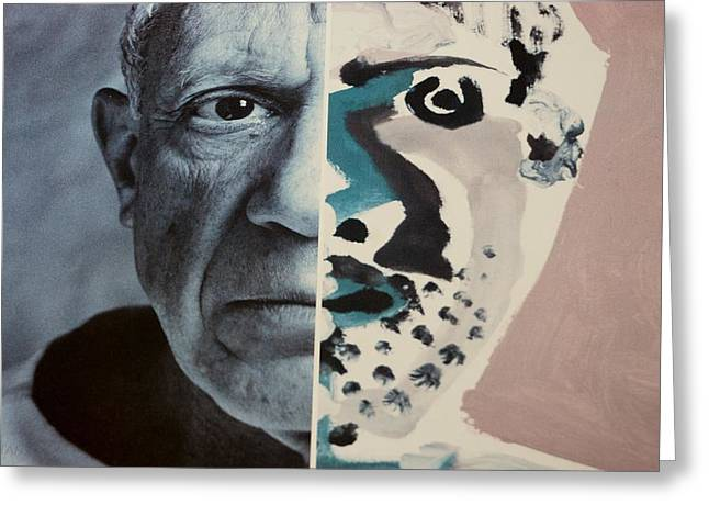Pablo Picasso Digital Art Greeting Cards - Pablo Greeting Card by Rob Hans