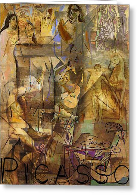 Pablo Picasso Digital Art Greeting Cards - Pablos Playground Greeting Card by Greg Sharpe