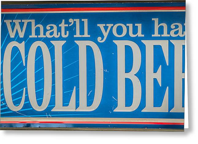Pabst Cold Beer Sign Key West - Hdr Style Greeting Card by Ian Monk