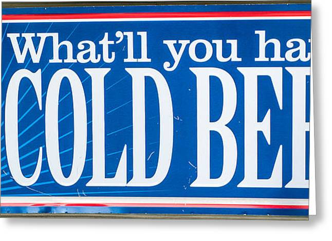 Pabst Cold Beer Sign Key West  Greeting Card by Ian Monk