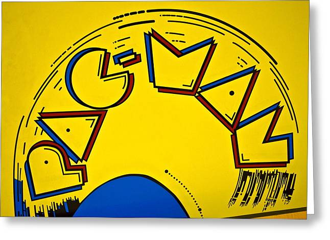 Pac-Man Greeting Card by Frozen in Time Fine Art Photography