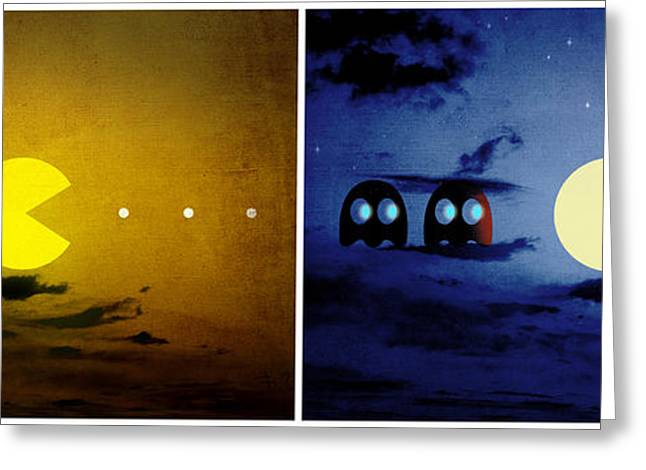Pac-scape Orizontal Diptych Greeting Card by Filippo B