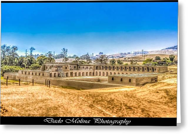 Archaeology Greeting Cards - Pachacamac Greeting Card by Dado Molina