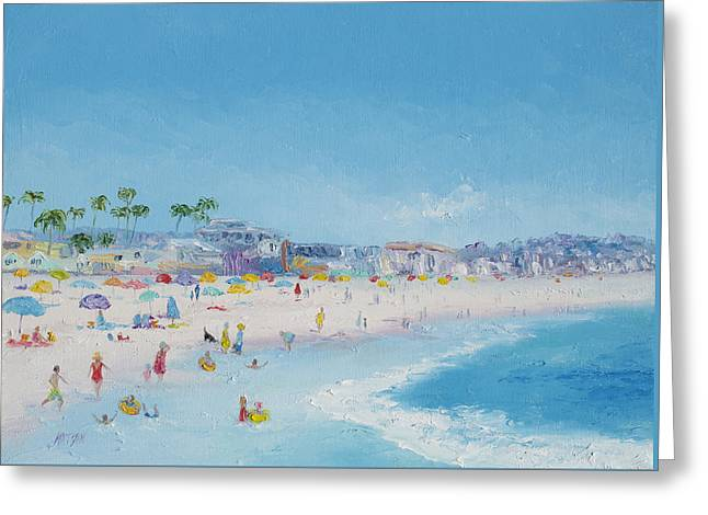 California Beach Art Greeting Cards - Pacific Beach in San Diego Greeting Card by Jan Matson