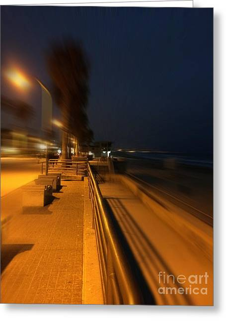California Beach Greeting Cards - Pacific Beach Nights  Greeting Card by Merrilyn Parry