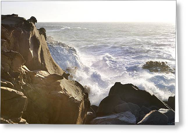 Foam Sculpture Greeting Cards - Pacific Break Greeting Card by Daniel Furon