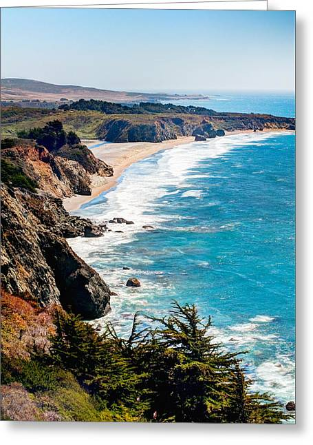Pacific Coast Greeting Card by Aron Kearney