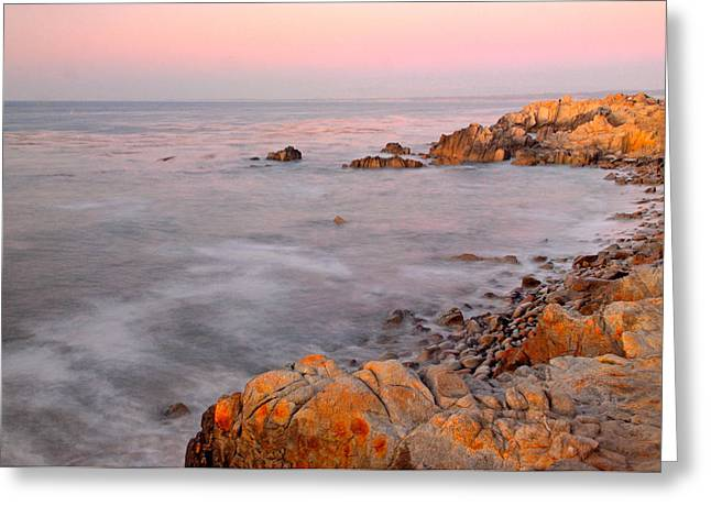 Coast Highway One Greeting Cards - Pacific Coast at Sunset  Near Pebble Beach California Greeting Card by Willie Harper