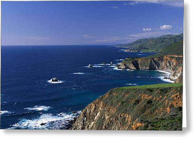 Big Sur Greeting Cards - Pacific Coast, Big Sur, California, Usa Greeting Card by Panoramic Images