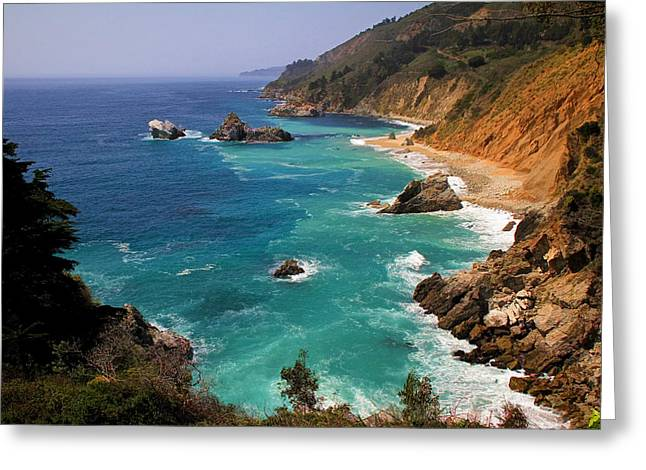 Big Sur California Greeting Cards - Pacific Coast Blues Greeting Card by Donna Kennedy