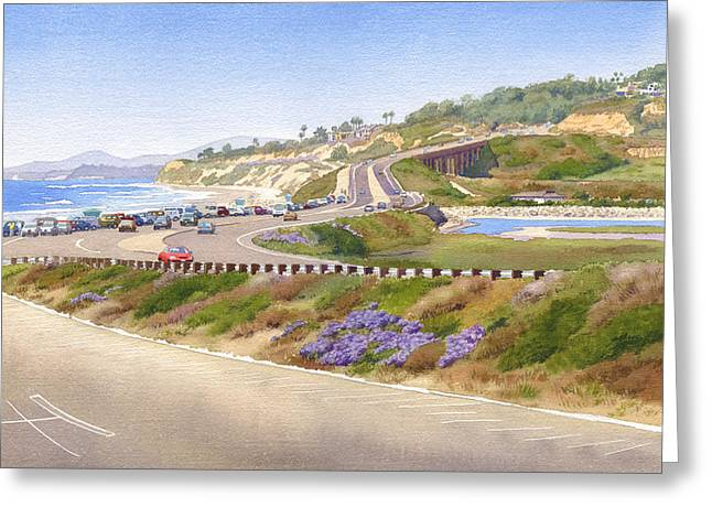 Highway Greeting Cards - Pacific Coast Hwy Del Mar Greeting Card by Mary Helmreich