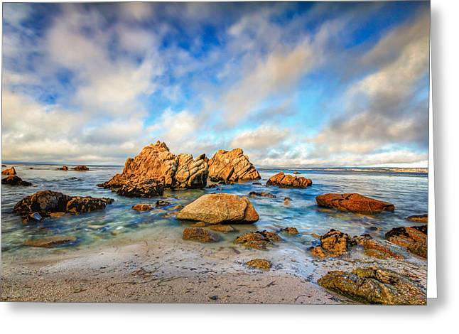 Beaches In Monterey Greeting Cards - Pacific Coast Seascape Greeting Card by Ken Wolter