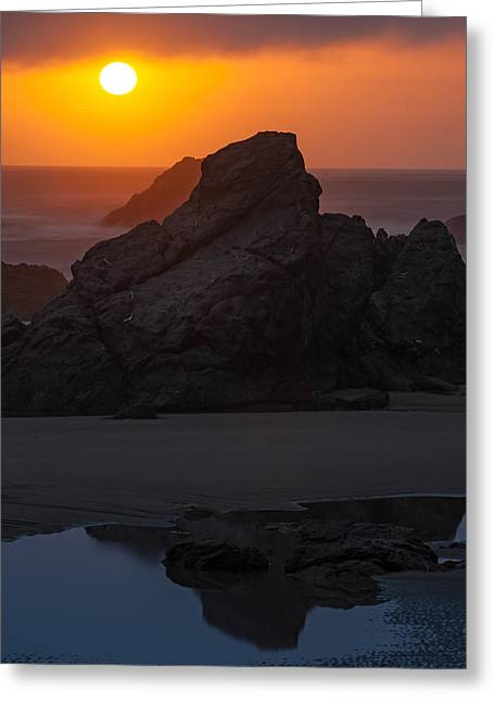 Best Sellers -  - State Parks In Oregon Greeting Cards - Pacific Coast sunset beach Oregon USA Greeting Card by William Fawcett