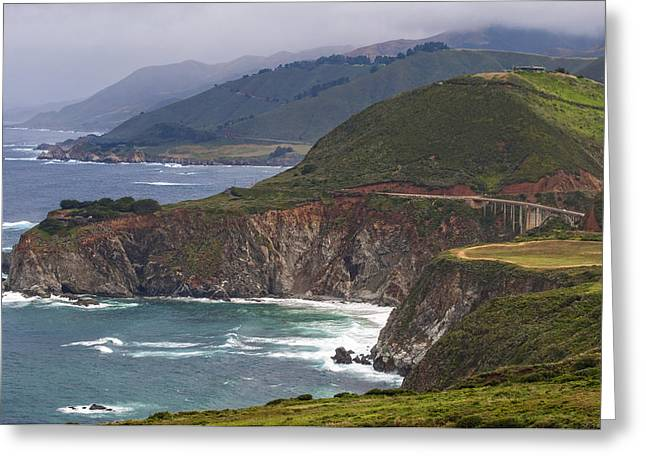 Pacific Coast View Greeting Card by Donna Doherty