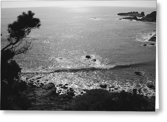 Steamer Lane Greeting Cards - Pacific Dawn Greeting Card by Ru Tover