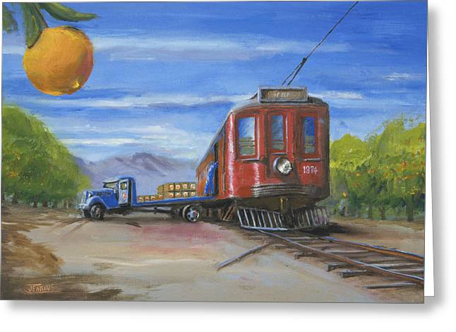 Railroad Greeting Cards - Pacific Grove Greeting Card by Christopher Jenkins