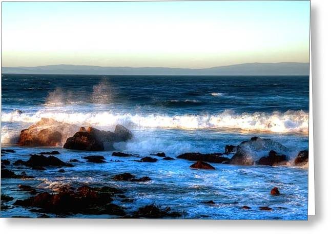 Ocean Vista Greeting Cards - Pacific Grove Surf 19894 Greeting Card by Jerry Sodorff