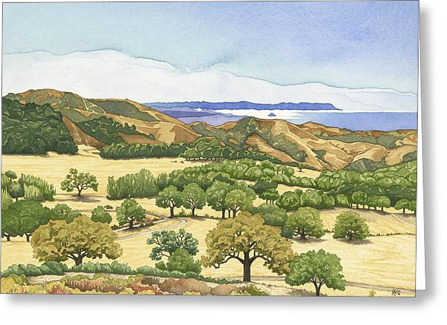 Recently Sold -  - Oak Creek Greeting Cards - Pacific Horizon Greeting Card by Kerry Van Stockum