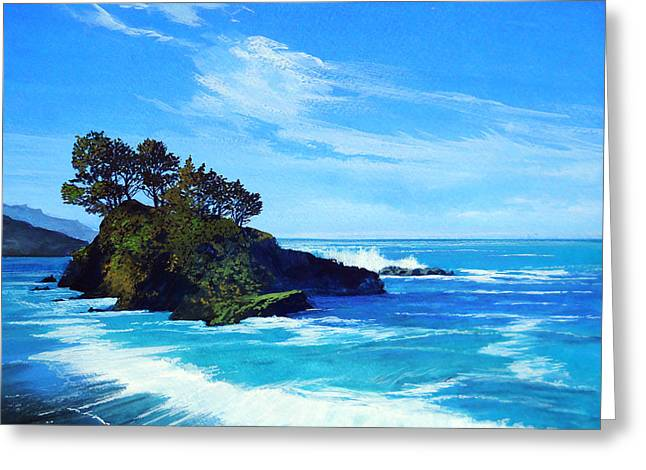 Robert Duvall Greeting Cards - Pacific Northwest Coast Greeting Card by Robert Duvall