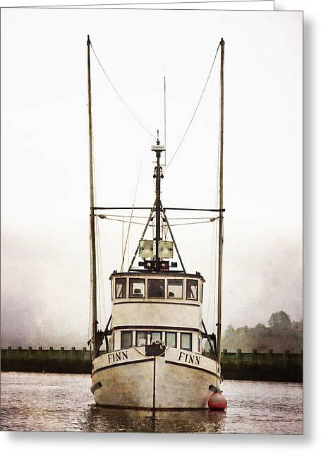 Monochrome Greeting Cards - Pacific Northwest Morning Greeting Card by Carol Leigh