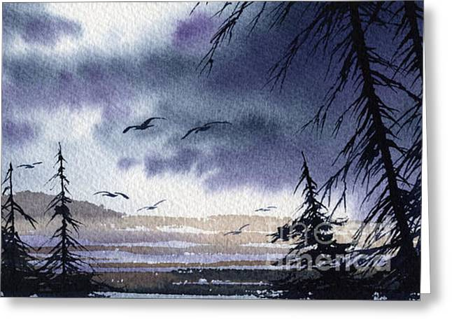Landscape Framed Prints Greeting Cards - Pacific Northwest Shore Greeting Card by James Williamson