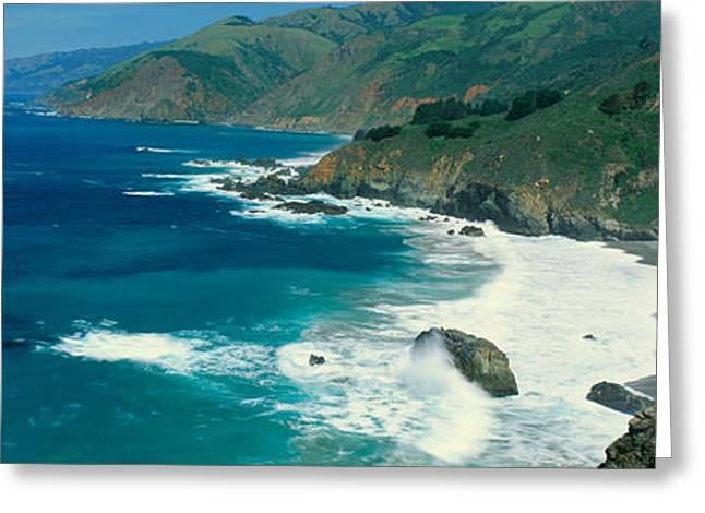 California Ocean Photography Greeting Cards - Pacific Ocean, Northern California Greeting Card by Panoramic Images
