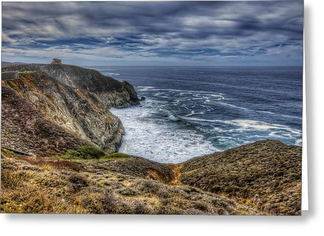 Hwy 1 Greeting Cards - Pacific Ocean View at Devils Slide in San Mateo County California Greeting Card by Jennifer Rondinelli Reilly