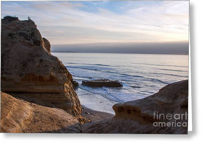 Pacific Ocean View From Above Cliffs Greeting Card by Darleen Stry