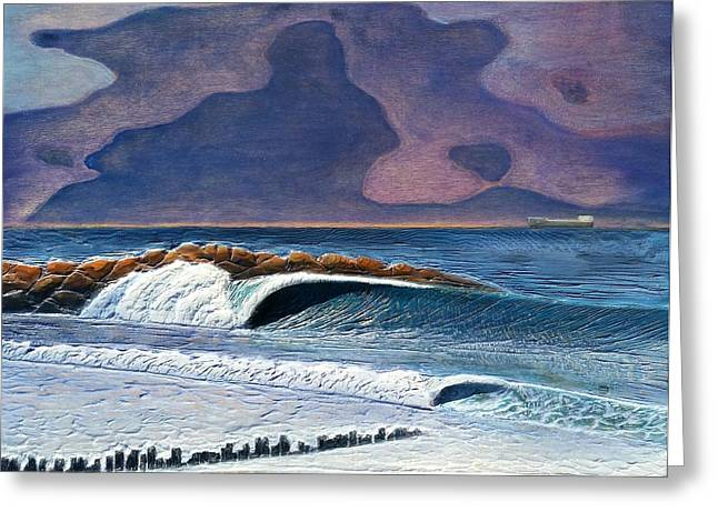 Ocean Reliefs Greeting Cards - Pacific on Atlantic  Greeting Card by Nathan Ledyard