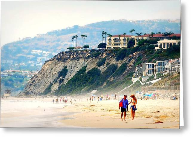 Couple On Beach Greeting Cards - Pacific Paradise Greeting Card by Diana Angstadt