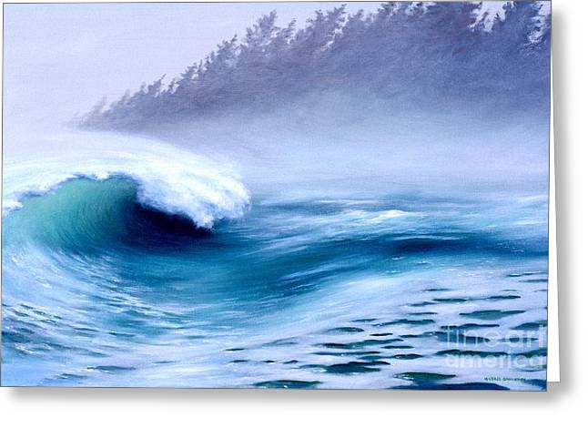 Ocean Shore Greeting Cards - Pacific Power  Greeting Card by Michael Swanson