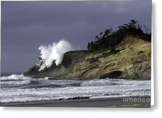 Tim Moore Greeting Cards - Pacific Power on the Cape Greeting Card by Tim Moore