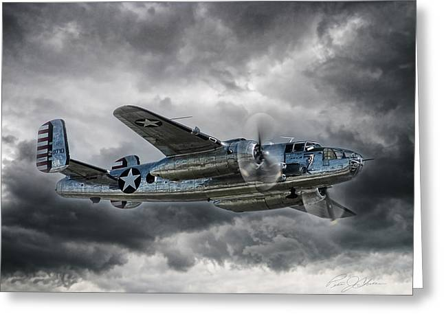 Pacific Prowler Greeting Card by Peter Chilelli