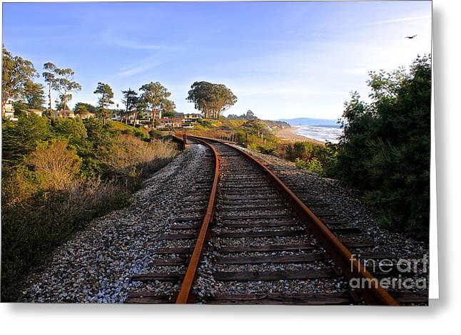 Pacific Rail Greeting Card by Shannan Peters