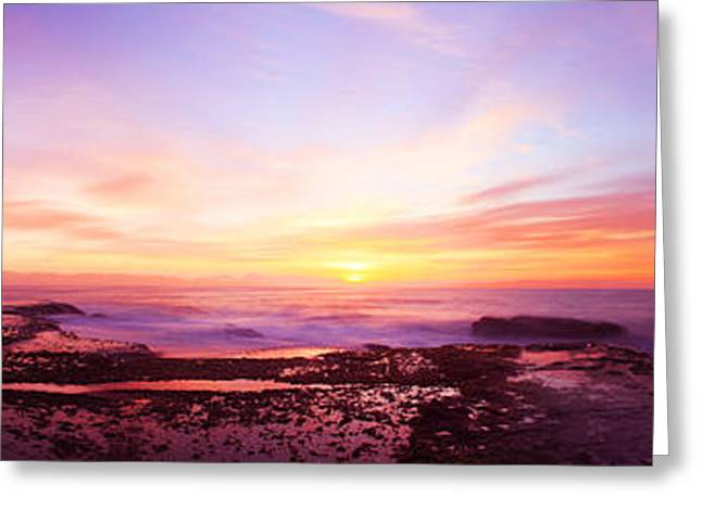 Vale Greeting Cards - Pacific Sunrise Greeting Card by Gene Yu