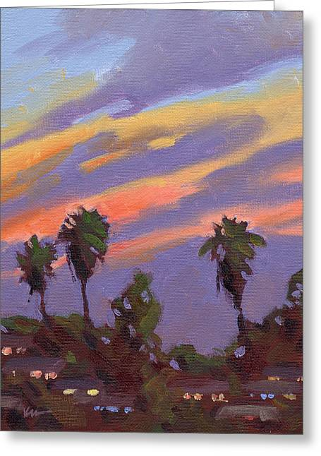 Bixby Bridge Paintings Greeting Cards - Pacific Sunset 1 Greeting Card by Konnie Kim