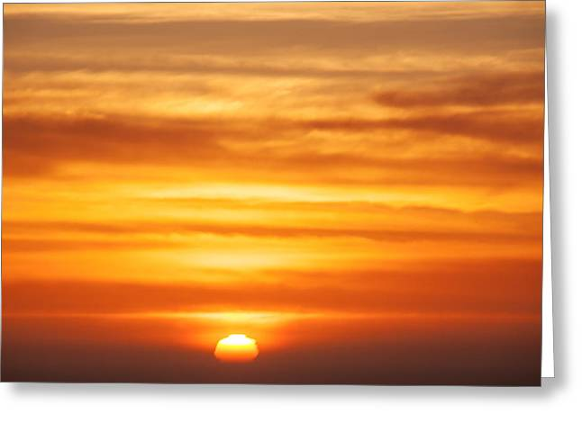 Afterglow Greeting Cards - Pacific Sunset Greeting Card by Garry Gay