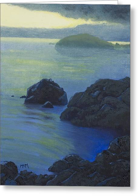 Eureka Paintings Greeting Cards - Pacific Sunset Northern California  Greeting Card by Garry McMichael