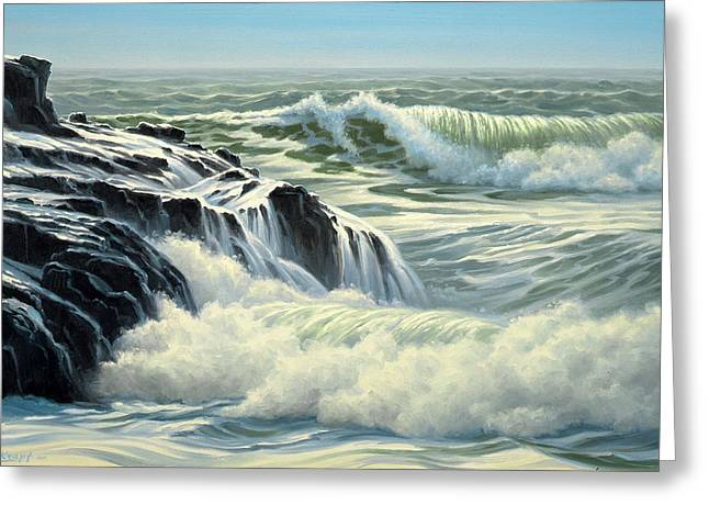California Coast Greeting Cards - Pacific Surf Greeting Card by Paul Krapf