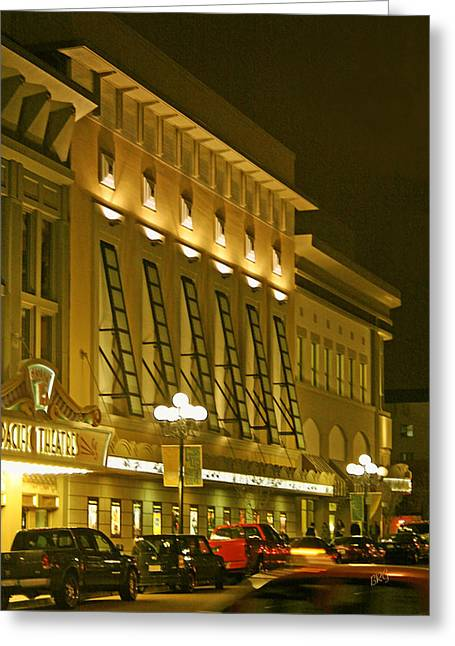 Night Lamp Greeting Cards - Pacific Theatres In San Diego At Night Greeting Card by Ben and Raisa Gertsberg