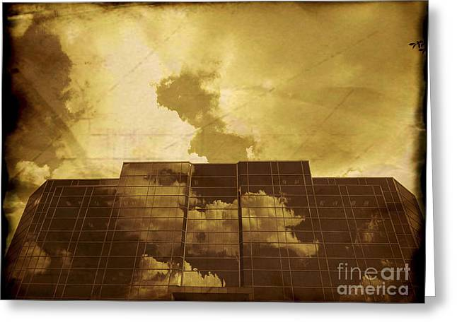 Downtown Area Pictures Greeting Cards - Pacifico Vintage Greeting Card by Nasser Studios
