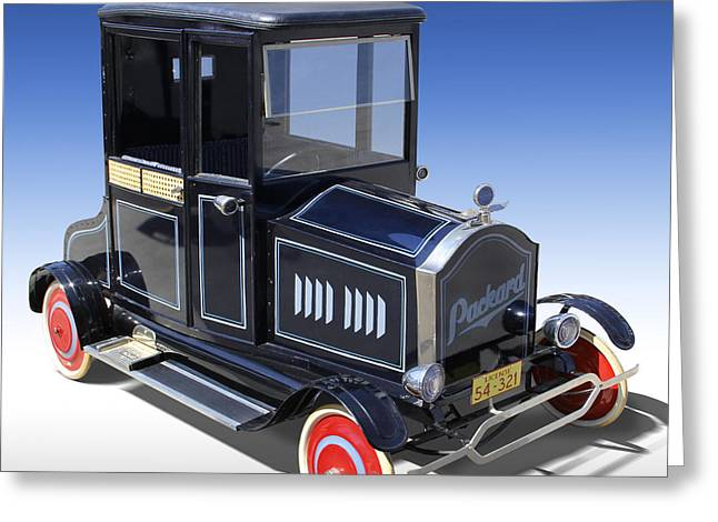 Child Toy Greeting Cards - Packard Peddle Car Greeting Card by Mike McGlothlen