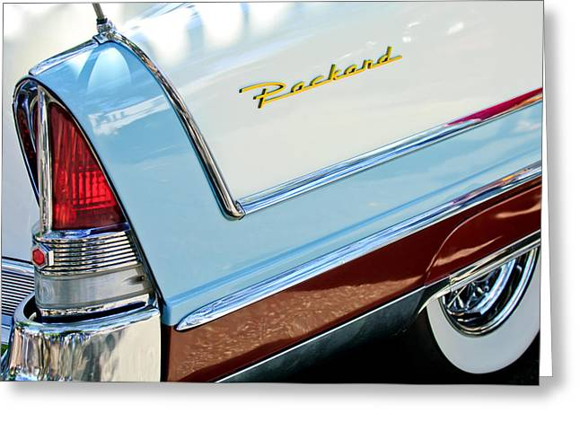 Packard Taillight Greeting Card by Jill Reger
