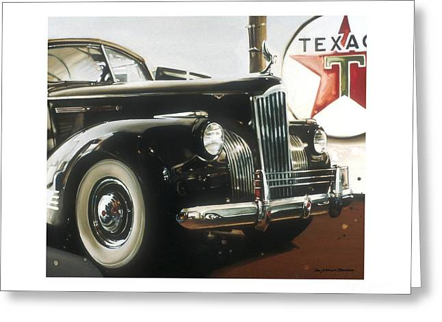 Vintage Hood Ornaments Paintings Greeting Cards - Packard Greeting Card by Toni Mendina