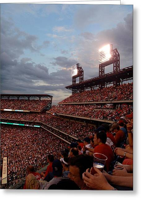 Red Soxs Greeting Cards - Packed Phull Of Phans Greeting Card by JAMART Photography
